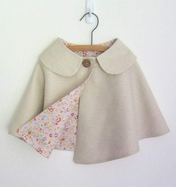 SALE Girls Cape Linen & Cotton Spring/Summer by OneMe on Etsy ...
