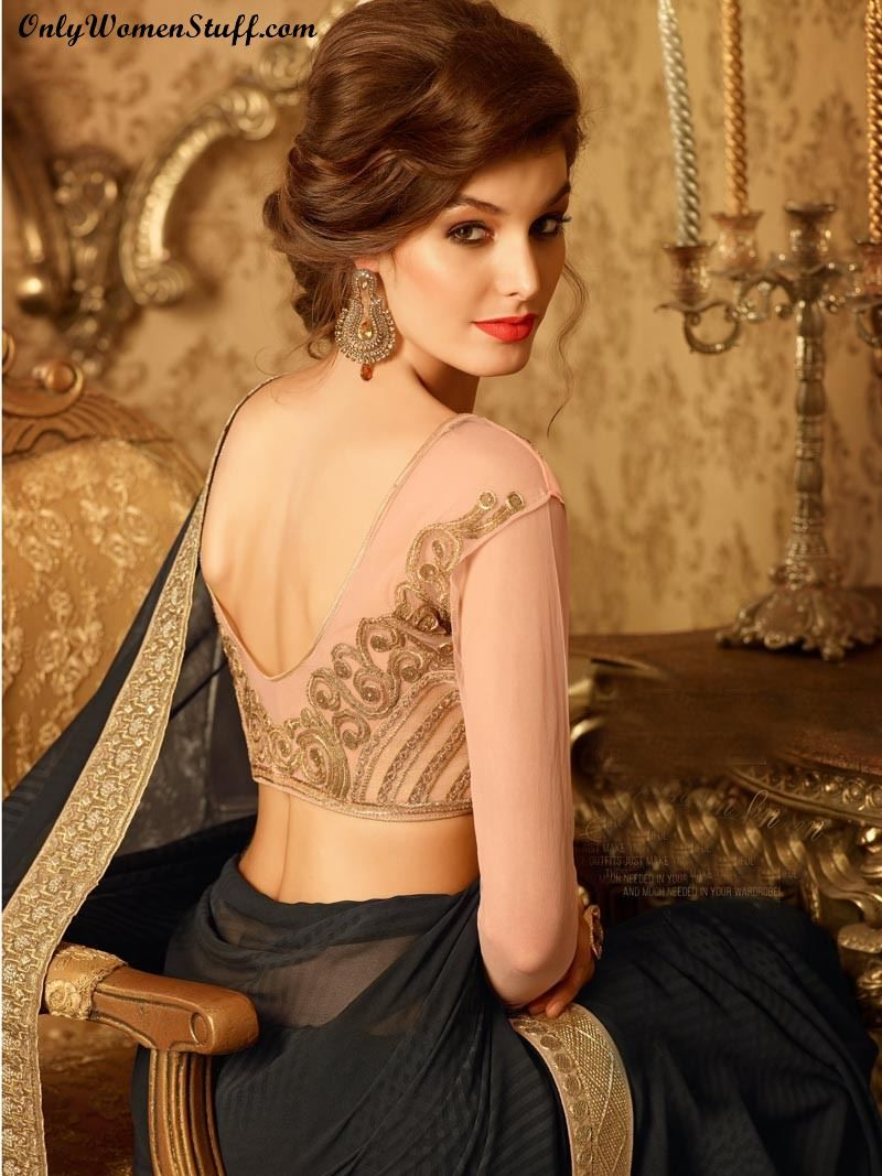 top 15 hairstyles for sarees pictures for all types of face | saree