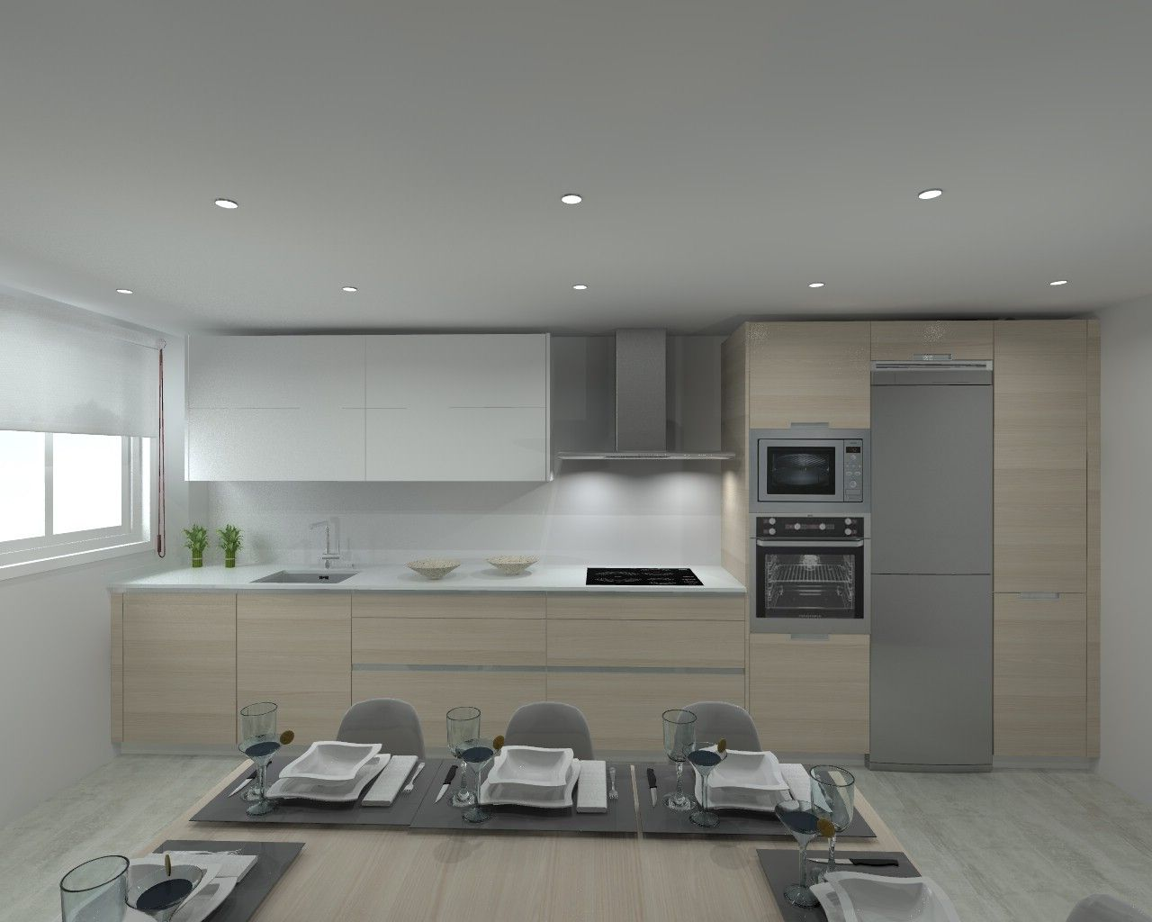 Modelo line e encimera silestone cocinas pinterest for Modelos cocinas integrales modernas