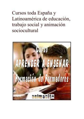 Cursos integracion social #formacion #educacion #educadores #formadores