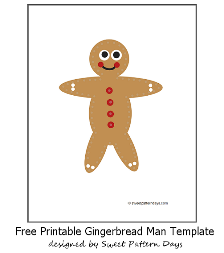 Large Gingerbread Man Template | Christmas Printables | Pinterest ...