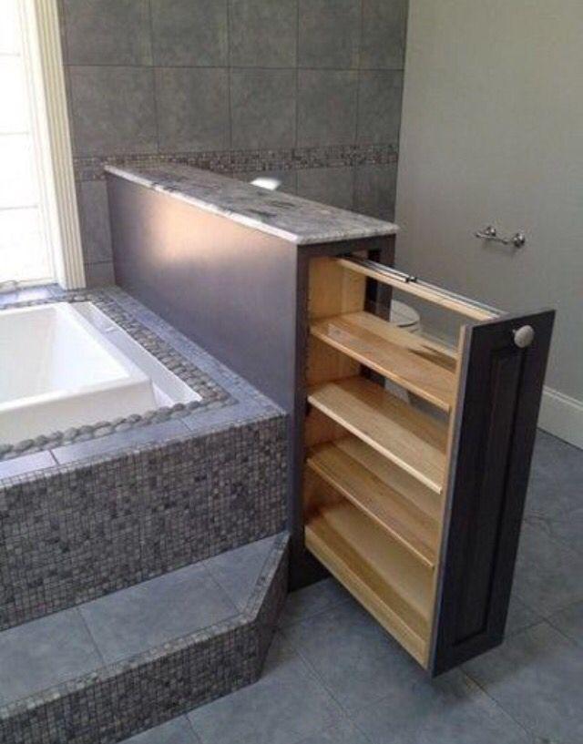 badezimmer tagre coulissante baignoire - Badezimmer Etagere