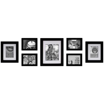 costco pinnacle 7 piece create a gallery studio black photo frame set