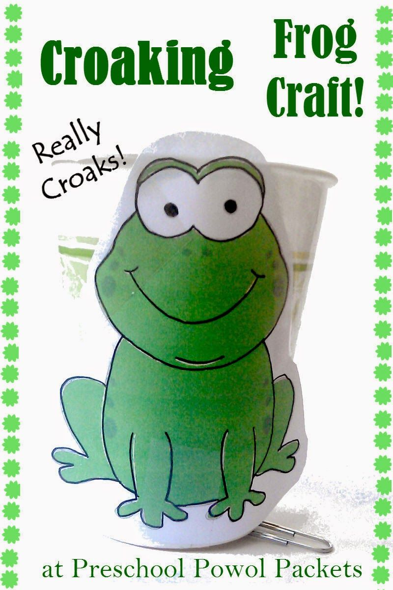 Croaking Frog Craft and Halloween Read & Play | Frog crafts, Frogs ...