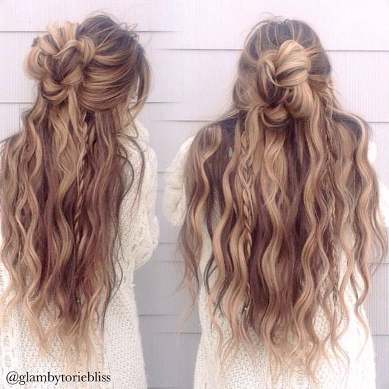 Messy Bun For Long Thick Hair Hairstyles Pinterest Thicker