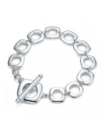 CUSHION TOGGLE STERLING SILVER $74.00 http://www.mexsil.com/bracelets-1513.html