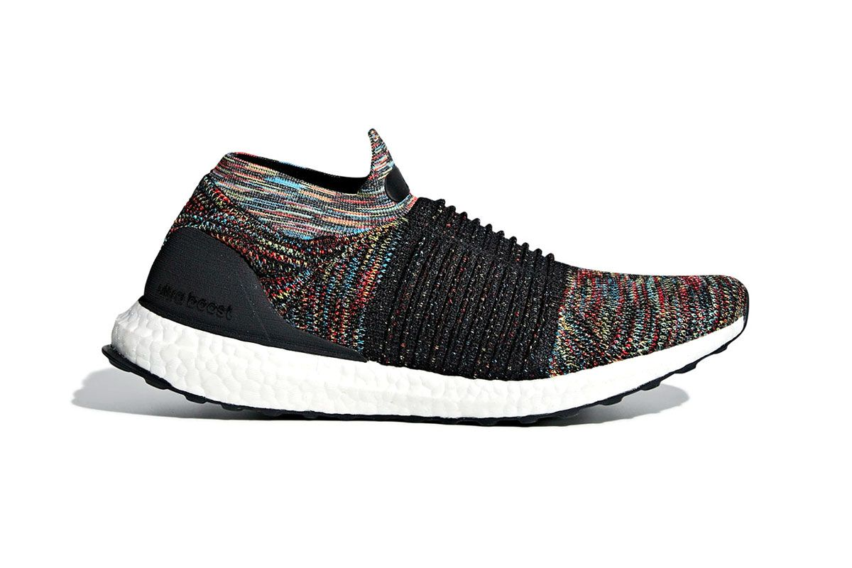 timeless design 596c6 37630 adidas UltraBOOST laceless red teal purple yellow black boost