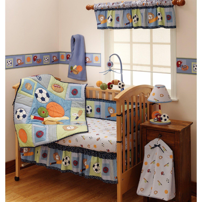 Bedtime Originals Super Sports 4 Piece Baby Crib Bedding Set