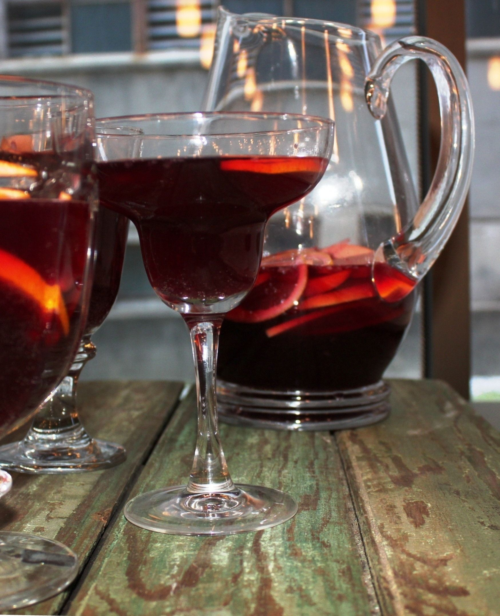 Depending On The Type Of Red Wine You Use Whether It Is Light Bodied Like A Beaujolais Or Deep And Rich Like A Cabe Sangria Citrus Sangria Red Sangria Recipes