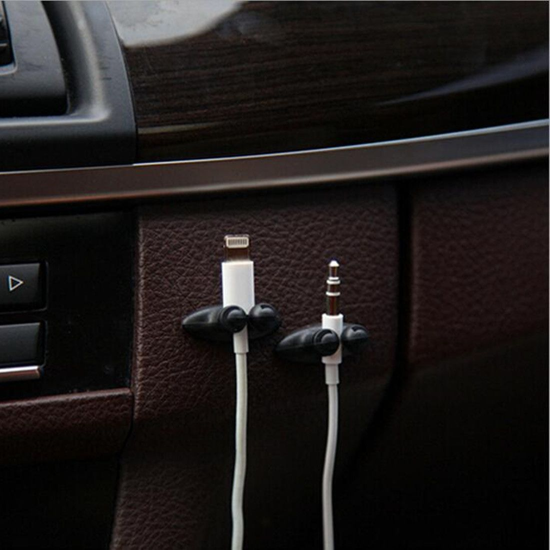2pcs Good Quality Car Adhesive Headphone USB Charger Line