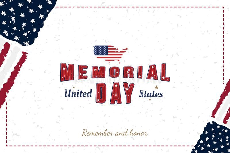 Happy Memorial Day Greeting Card With Original Font And Usa Map And Flag Templ Sponsored Original Card Happy Memorial Day American Holidays Usa Map