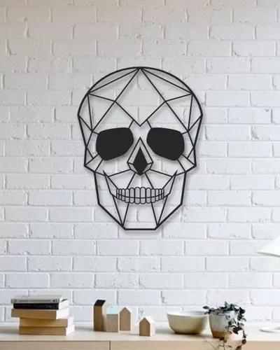 Figura Geometrica Decorativa Craneo Mdf 6mm Pintado 250 00 Arte De Pared De Metal Arbol De Metal Decoracion De Pared De Hierro