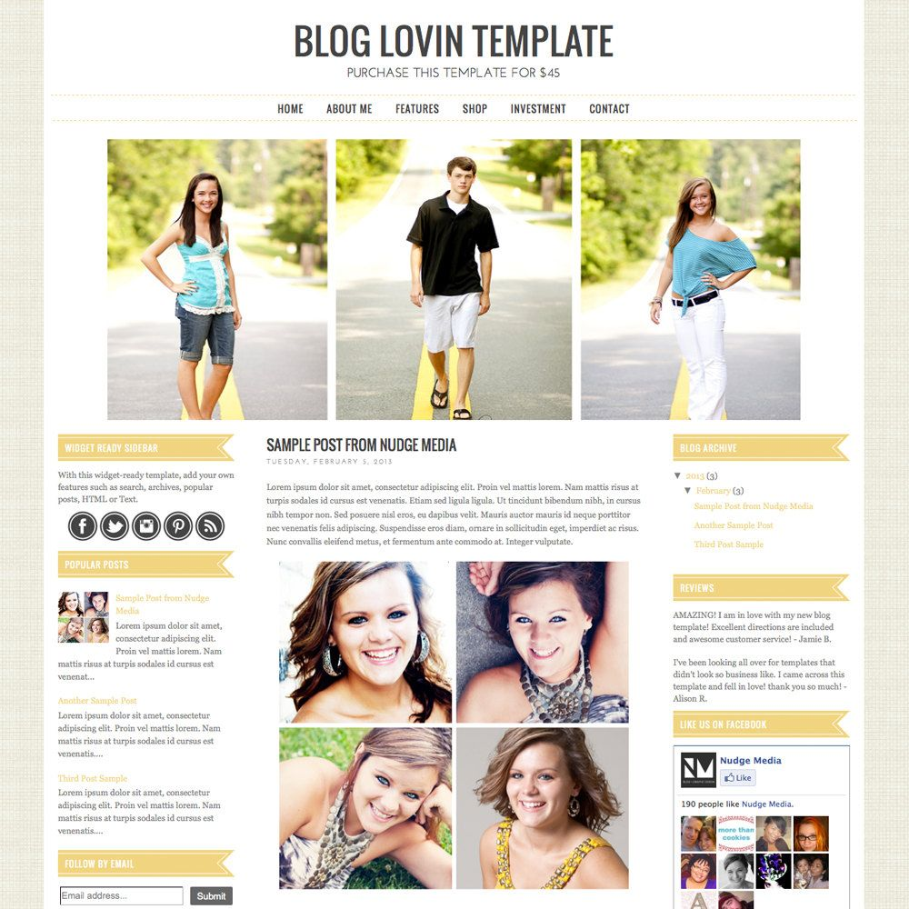 30 Seriously Cool Blog Templates—All From Etsy
