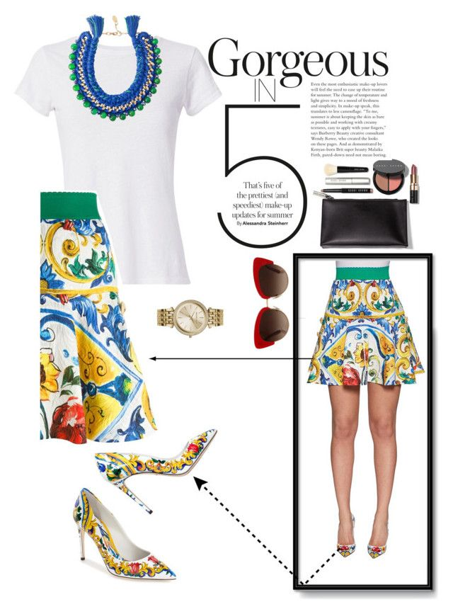 """""""Untitled #54"""" by leticiacarloni on Polyvore featuring Dolce&Gabbana, Bobbi Brown Cosmetics, Hanes, Michael Kors and Ricardo Rodriguez"""