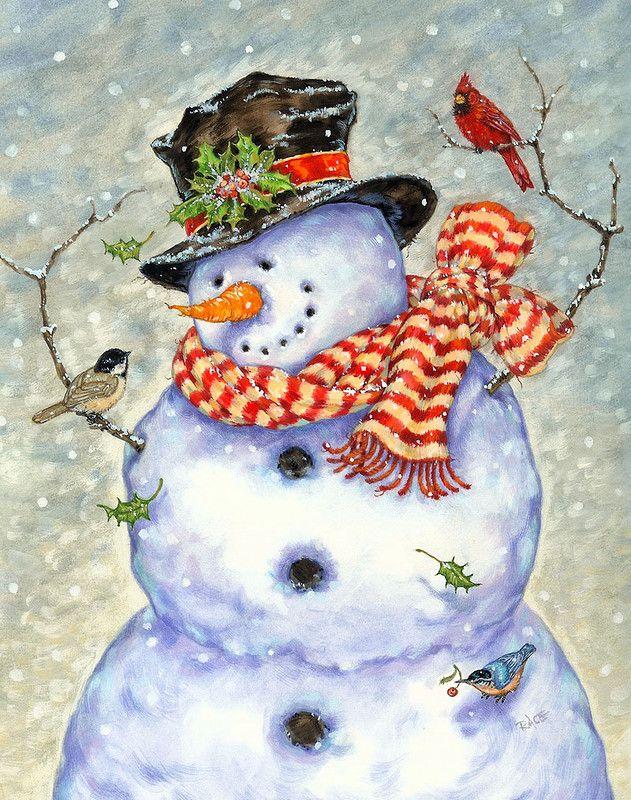 Картинка снеговик снегирь