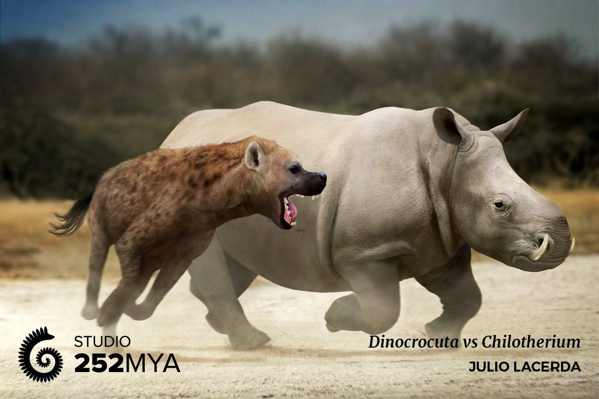 (3) Twitter (With images) Prehistoric animals, Hyena