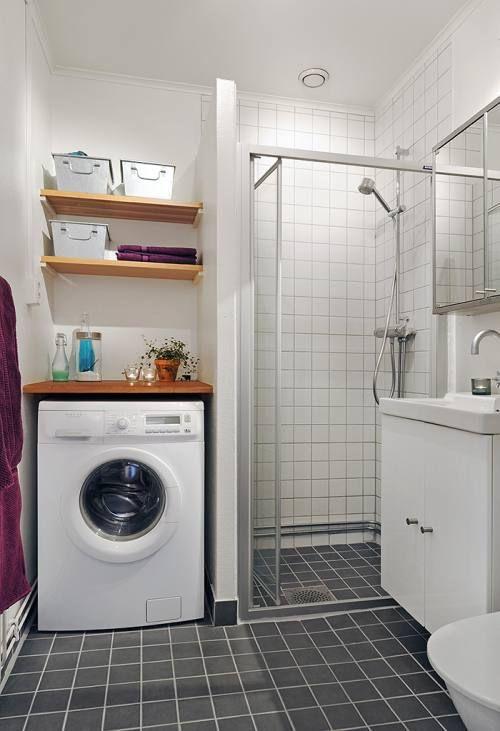 Ubicar La Lavadora En El Bano Decorar Banos Pequenos Como