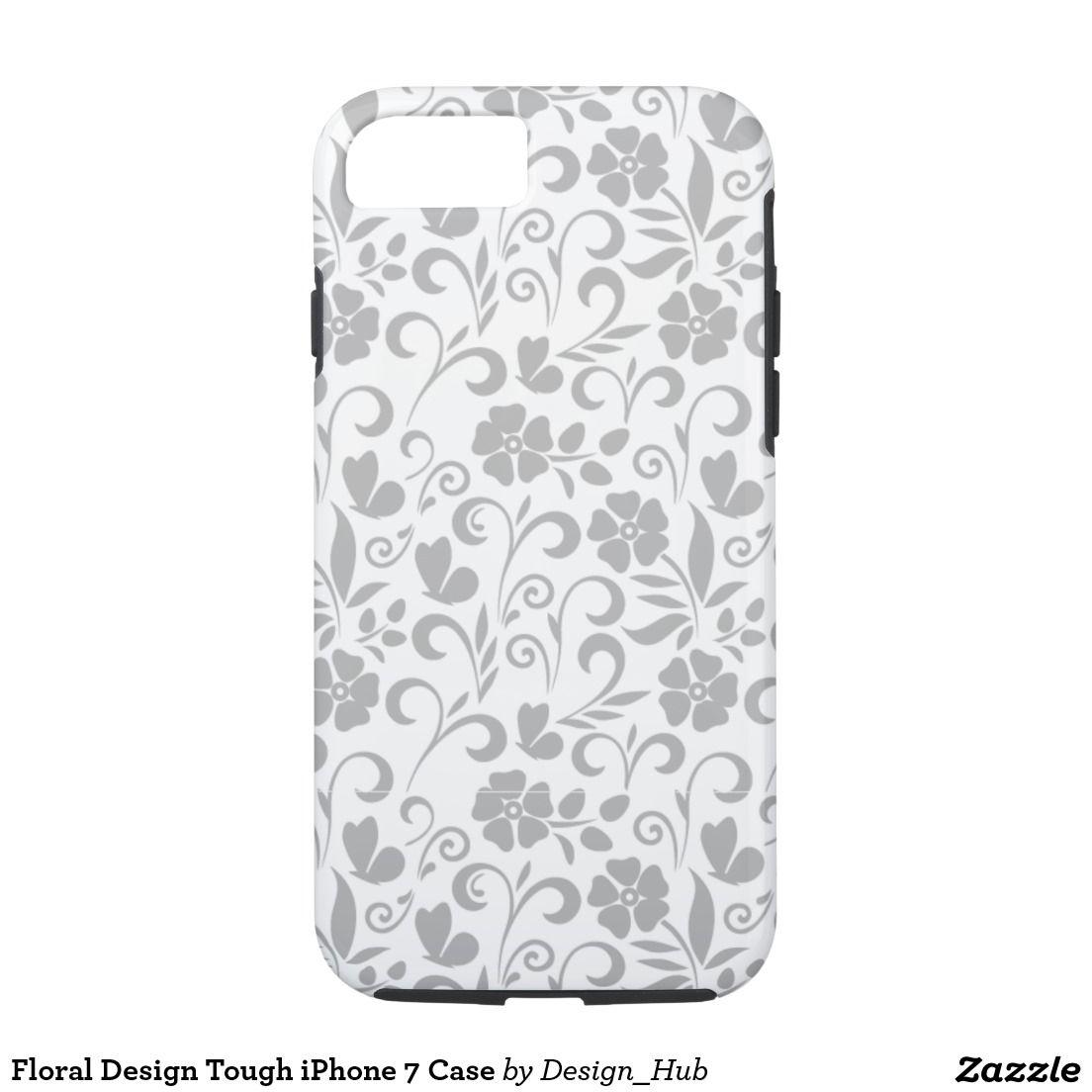 Floral Design Tough Iphone 7 Case