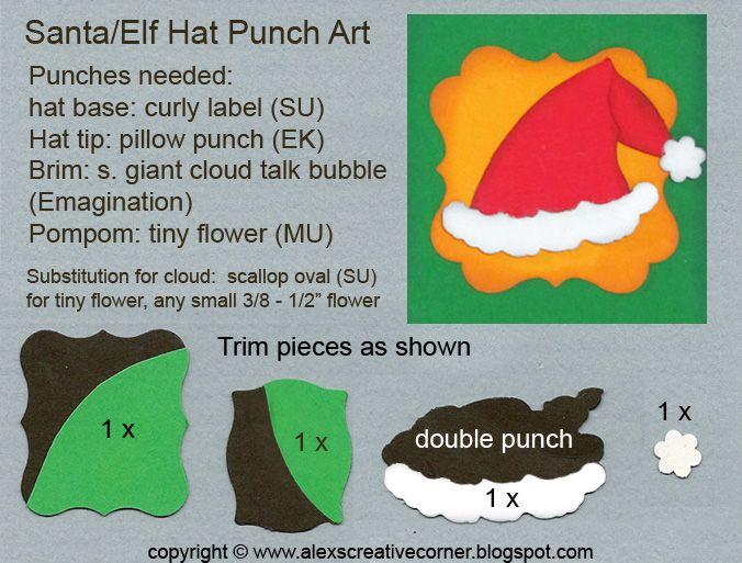Alex's Creative Corner: Santa and Elf Hat