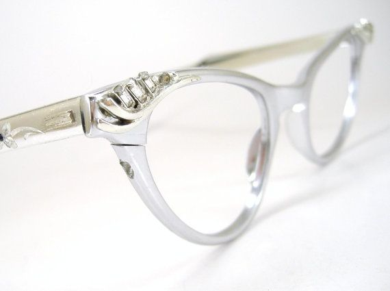 Vintage Rhinestone Cat Eye Glasses Eyeglasses or Sunglasses Frame