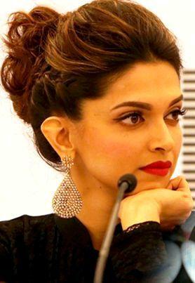 Pin By Ramsha Khan On Makeup Hair Deepika Hairstyles Hair Puff Indian Hairstyles