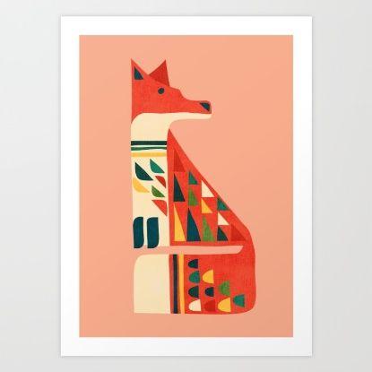 Century Fox Art Print by Picomodi   Society6