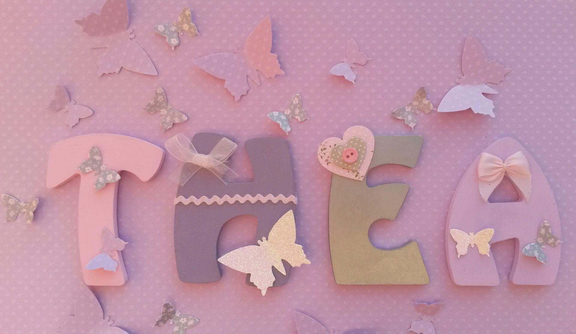 lettres en bois pr nom b b thea 8cm de hauteur d coration pour enfants par joli mai lettres. Black Bedroom Furniture Sets. Home Design Ideas