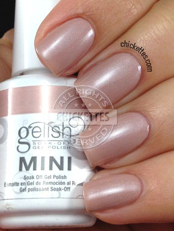 Gelish Skinny Vanilla Latte Swatch Gel Nail Colors Gelish Nail Colours How To Do Nails