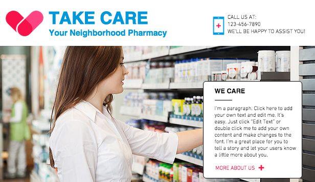 Pharmacy Wix Website Template  Theme Wix Templates  Themes - neighborhood website templates