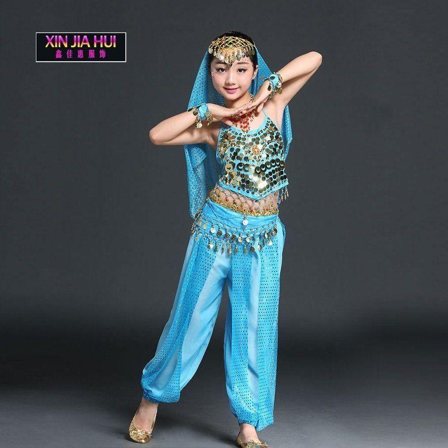 a8746fd3c Cheap Indian Sari Girls Dress Set Orientale Enfant Indian Costumes ...