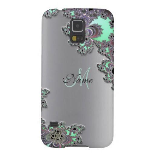 Personalize Silver Metallic Fractal Galaxy S5 Case  #Galaxy #fractal