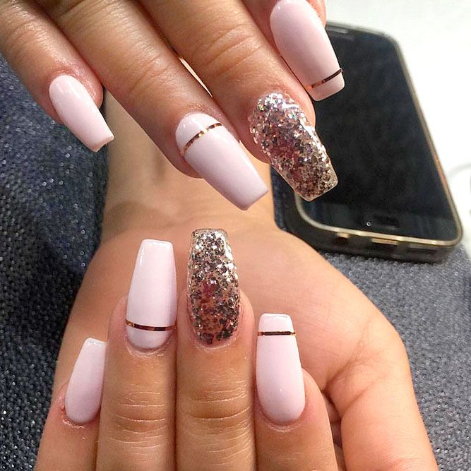 21 Cool Coffin Shape Nails Designs To Copy In 2018 | Nail Nail Shapes And Coffin Nails