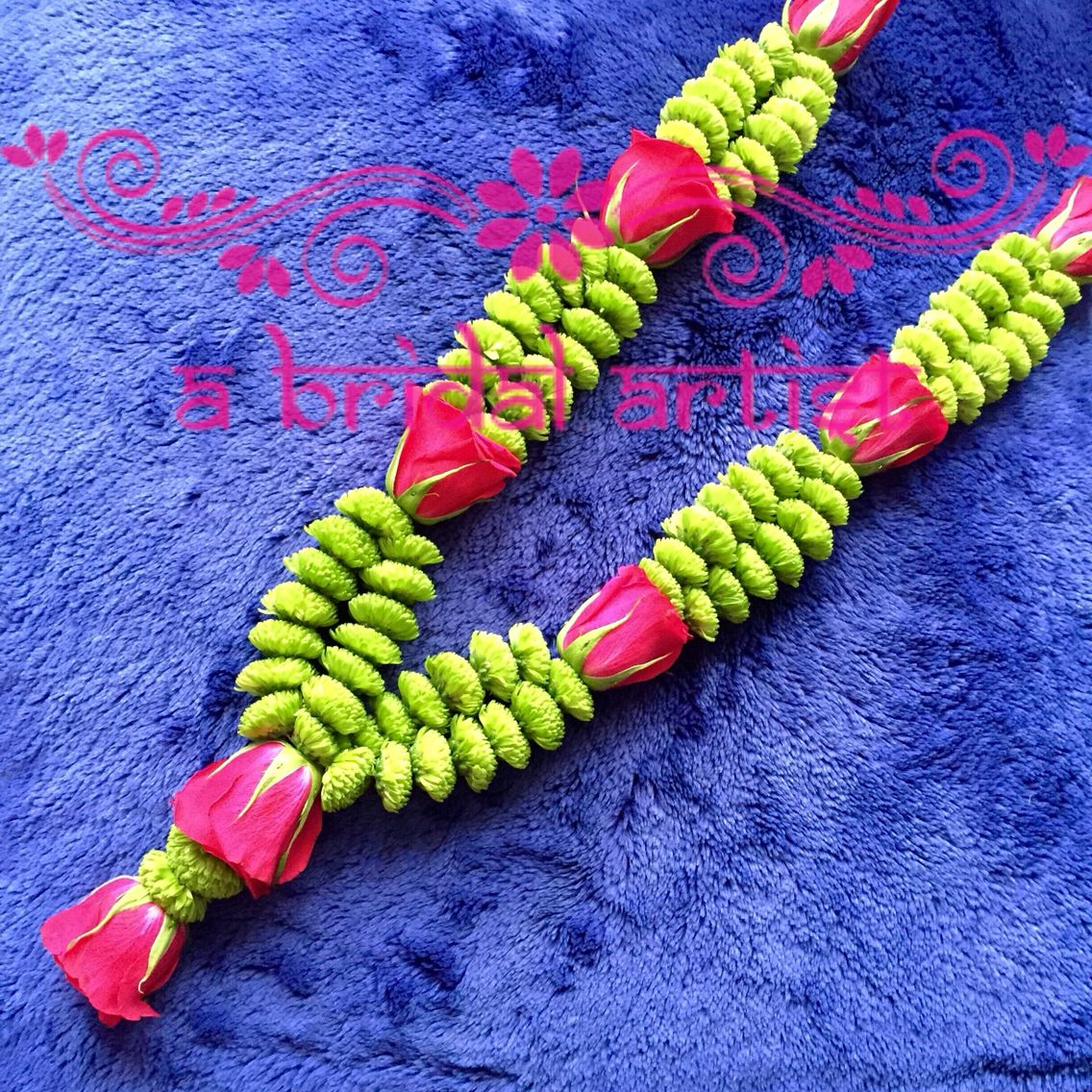 Exquisite Designer Wedding Garland (jaimala / Haar / Varmala) Made From Fresh  Flowers.