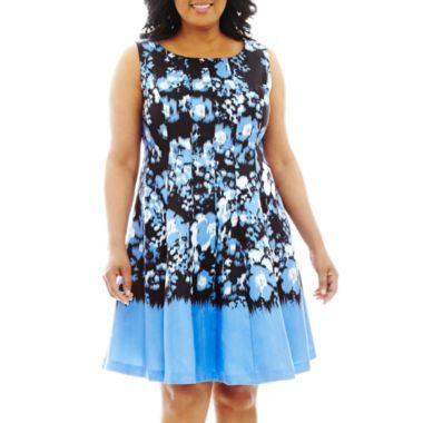 2118ccf5a581 Danny & Nicole® Sleeveless Floral Fit-and-Flare Dress - Plus found at @ JCPenney