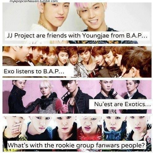 Seriously! I wanna what that big problem is! Ugh! We are all K-POP fans, appreciate one another!