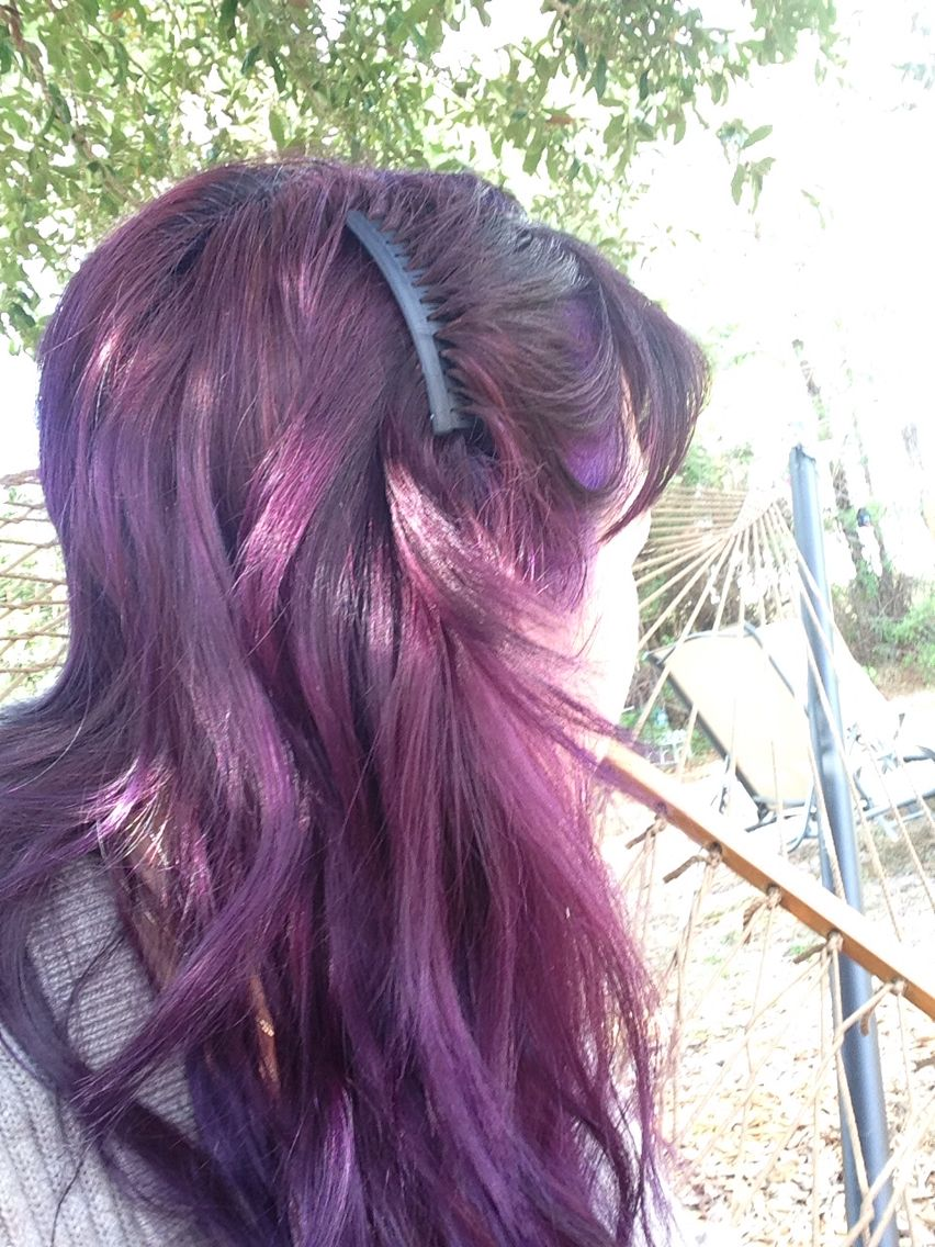 Manic Panic Purple Haze Mixed With Ultra Violet Hair Purple Hair Hair Color
