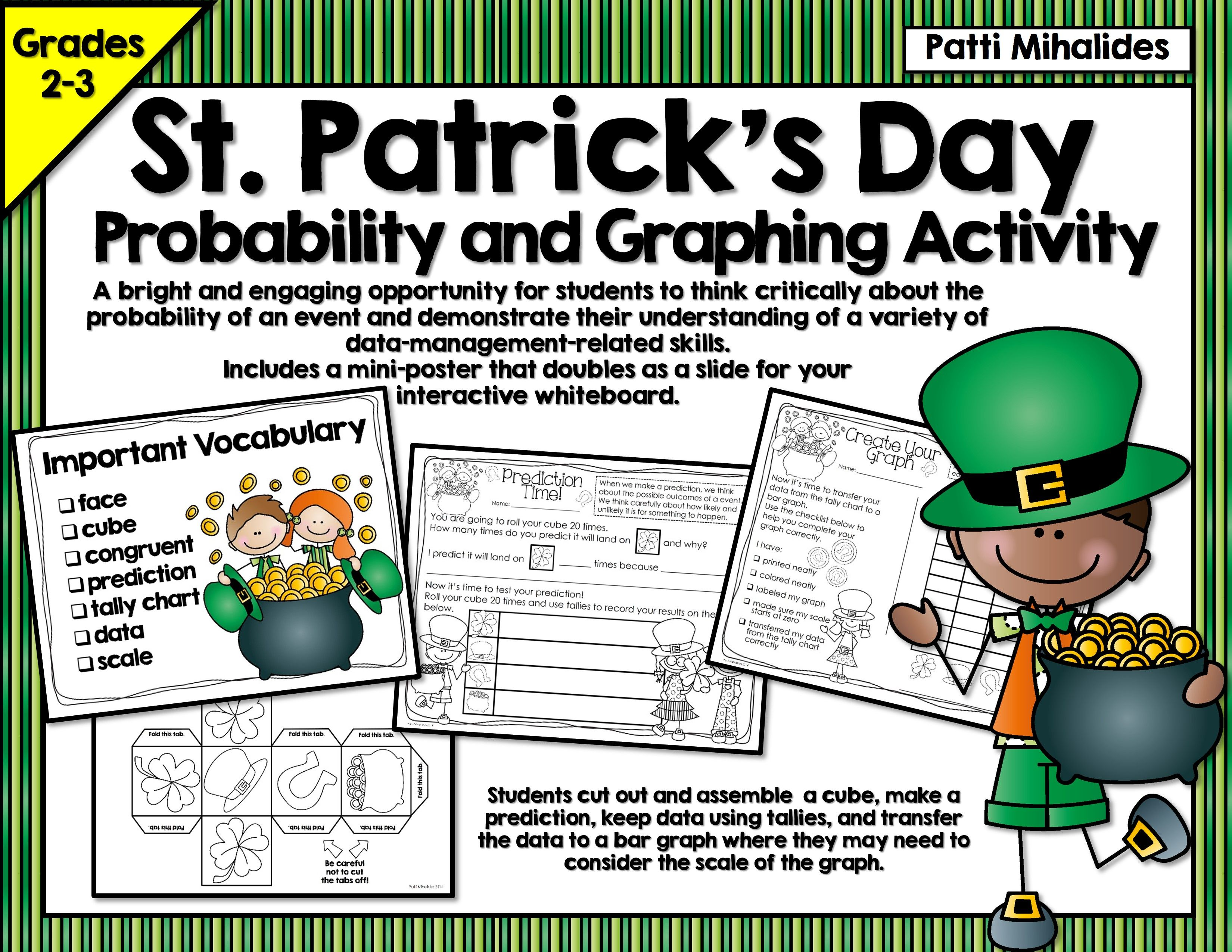 St Patrick S Day Probability Graphing Activity Hands On