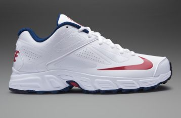 the latest 920b5 0c4a0 Nike Potential Junior Cricket Shoes - Boys Cricket Shoes - White-Blue-Red