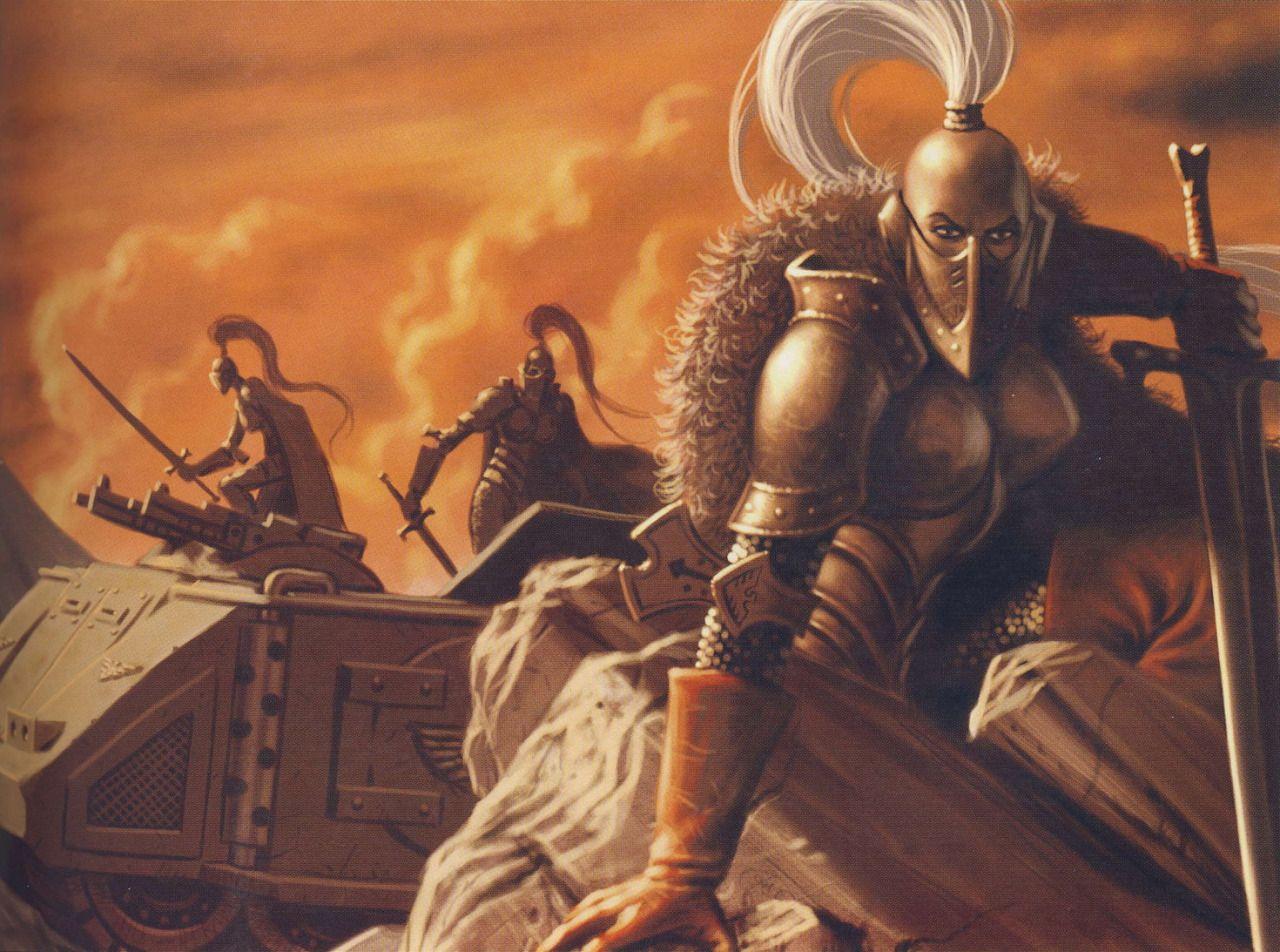 Sisters of Silence great crusade era - 40k Artwork