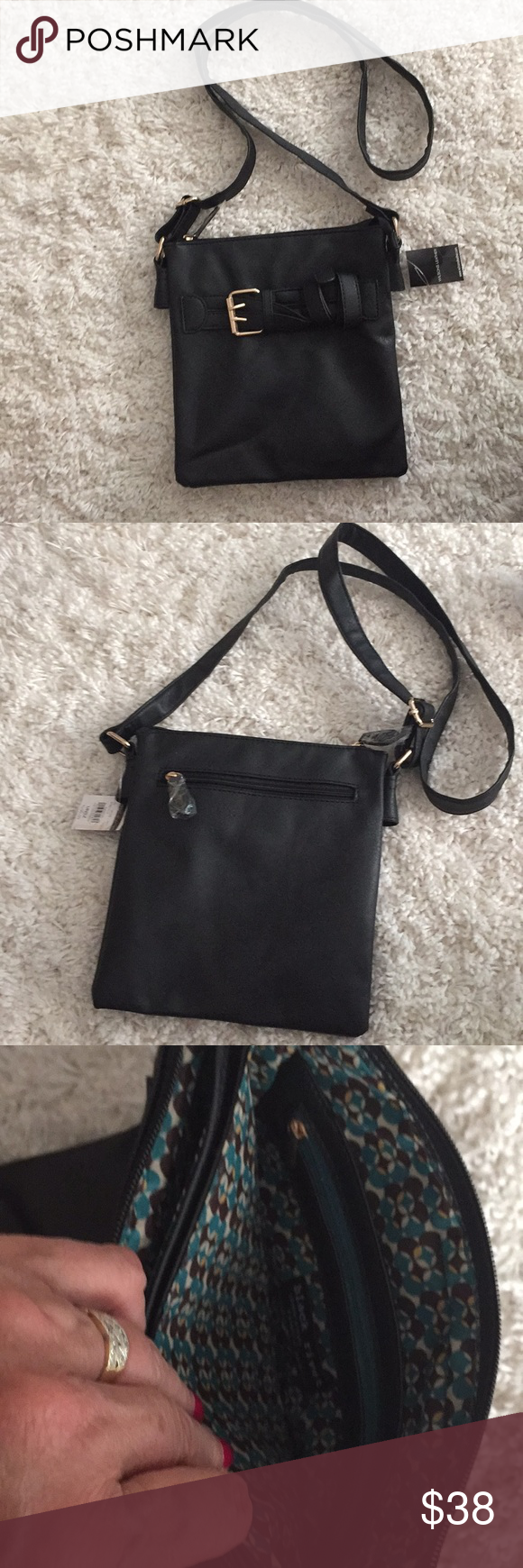 Wilson Leather black cross body/shoulder bag Wilsons