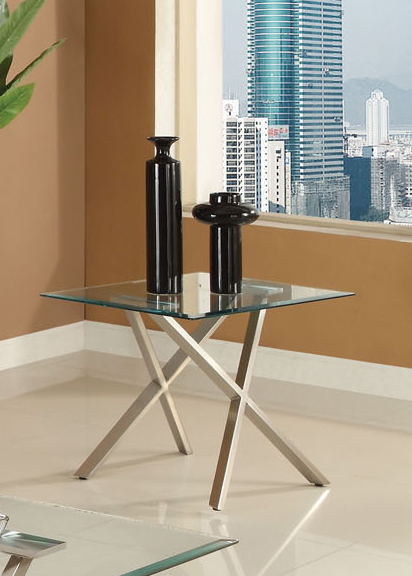 Seble End Table With Clear Glass Top Acme Furniture Home Gallery