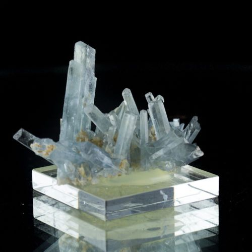 2-1-Rare-Gem-Clear-BLUE-BARITE-Wet-Look-Crystal-Cluster-Stoneham-CO-for-sale