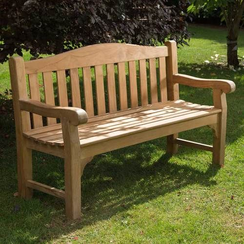 A Sturdy And Exceptionally Well Made 3 Person Wooden Garden Bench