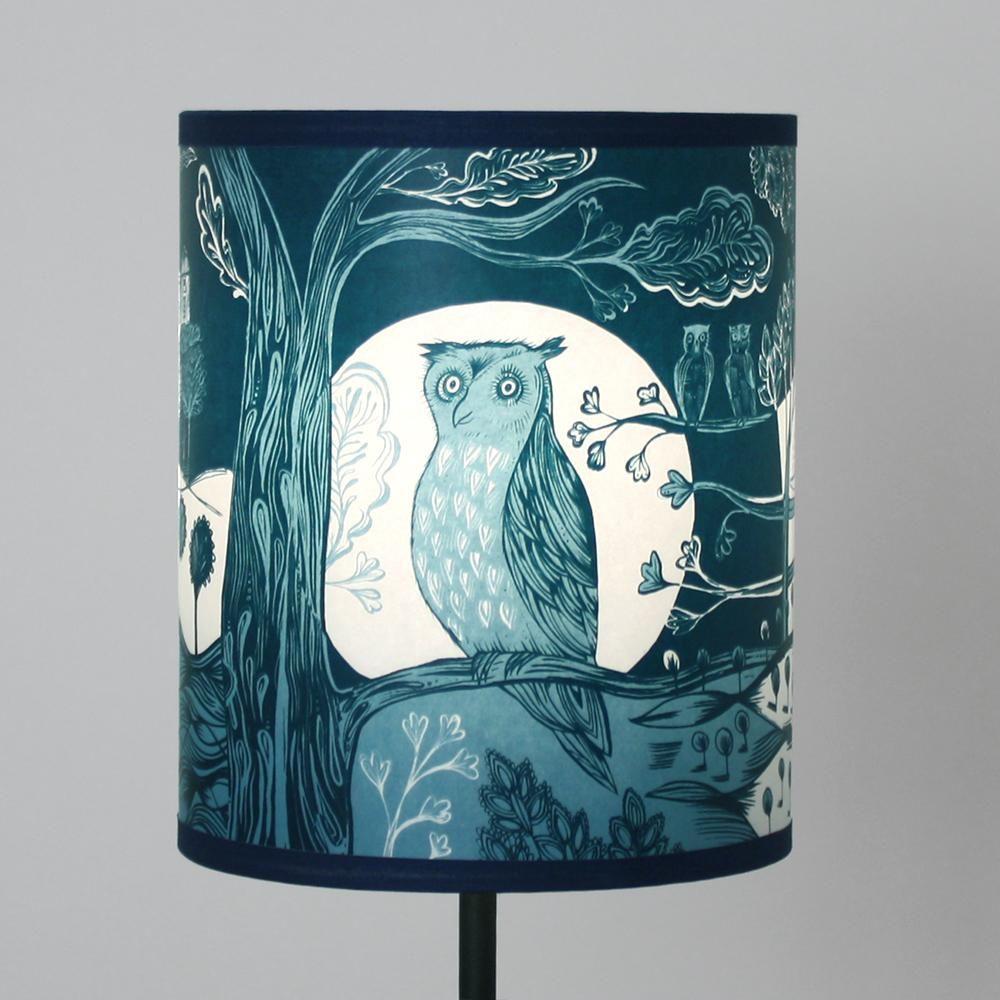 Blue Bird Lamp Shade