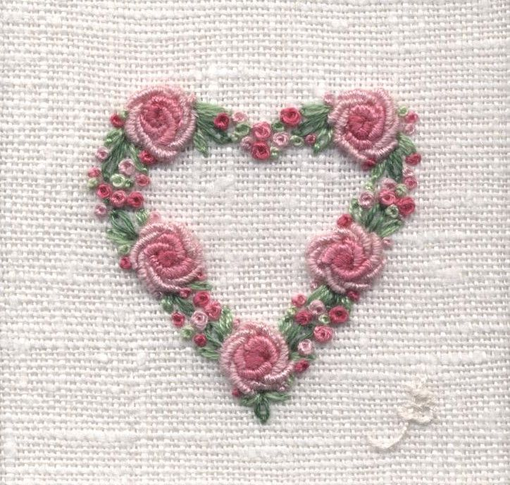 Rose heart hand embroidery … pinteres…