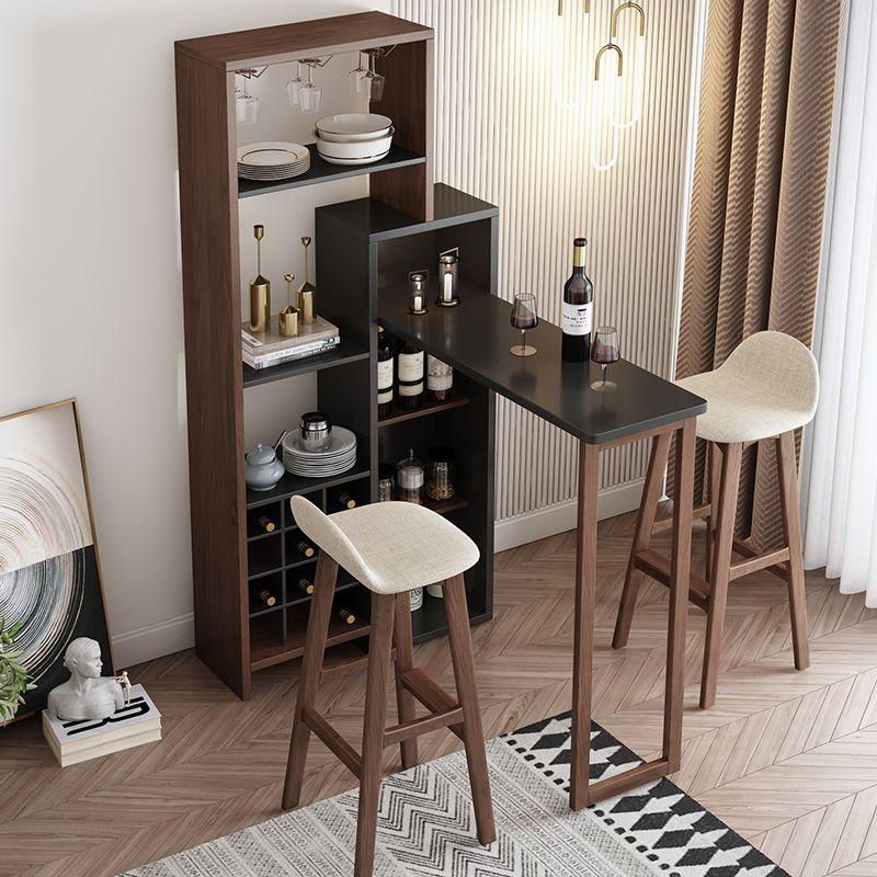 Nordic Home Folding Mini Bar Tables Wine Cooler Retractable Partition Table Modern Minimalist Living Room Petite Table De Bar Petites Barres Bar Maison Moderne