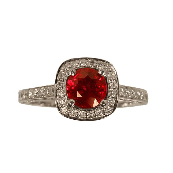 Genuine Ruby And Diamond Ring Zabler Design Jewelers Reference Number R7283