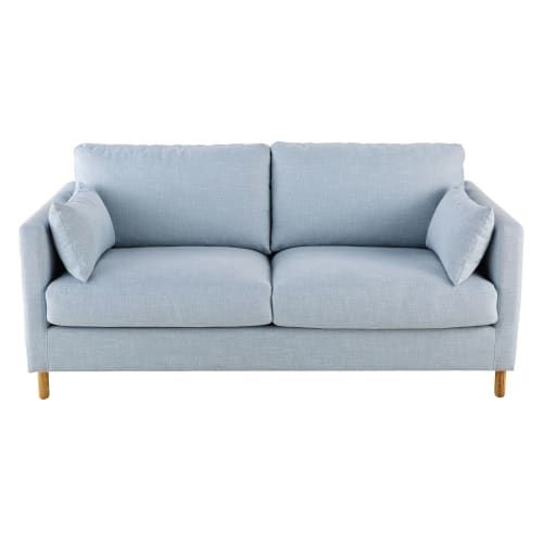 Canape Lit 3 Places Bleu Glacier In 2019 Canapes 3 Seater Sofa