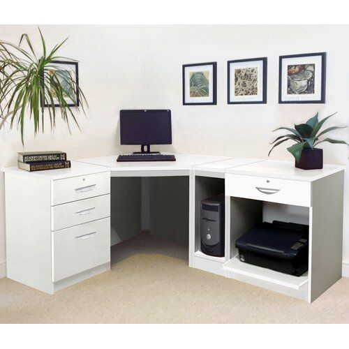Walshaw L-Shape Computer Desk Homestead Living Finish
