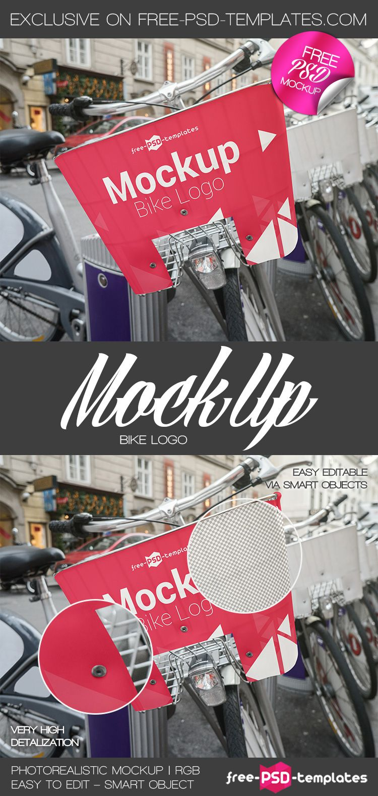 Download Free Bike Logo Mock Up In Psd Get An Amazing Photorealistic Free Bike Logo Mock Up In Psd For Absolutely Free And A Mockup Free Psd Psd Template Free Free Psd